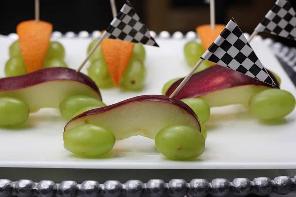 apple healthy pinewood derby snacks