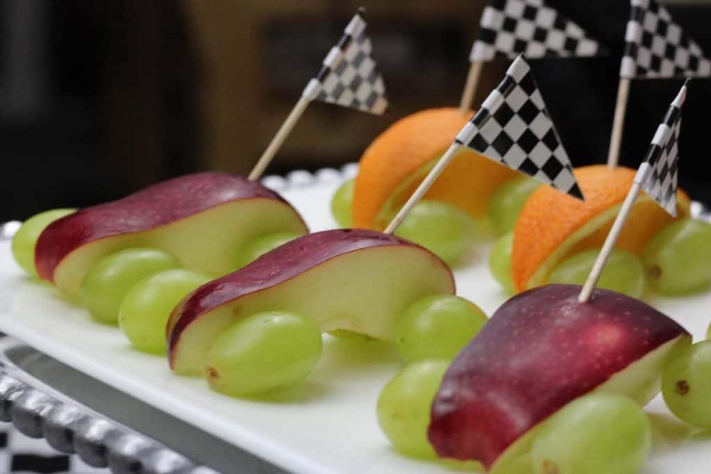 apple orange healthy pinewood derby snack