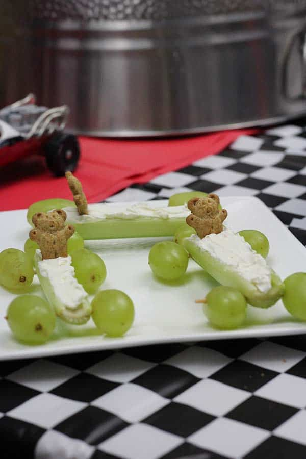 celery cream cheese healthy pinewood derby snack