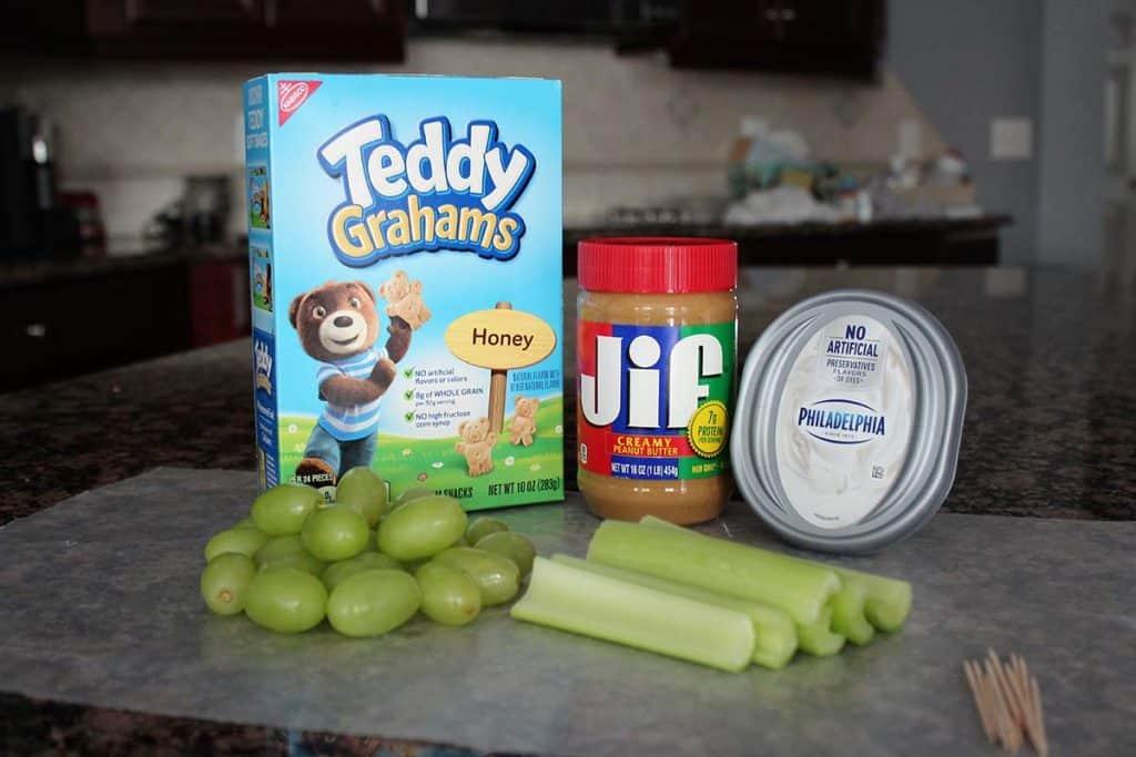 celery healthy pinewood derby snack ingredients