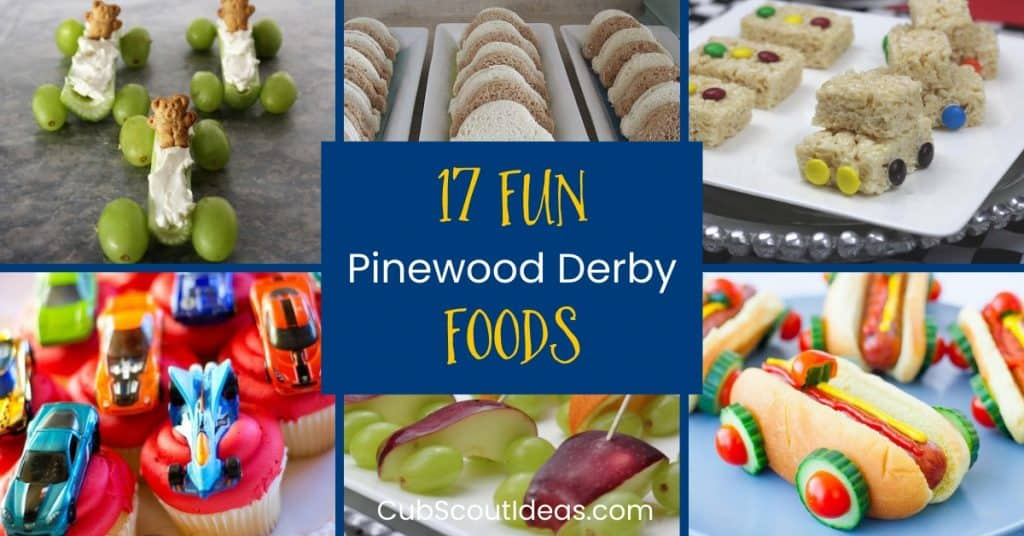 pinewood derby foods