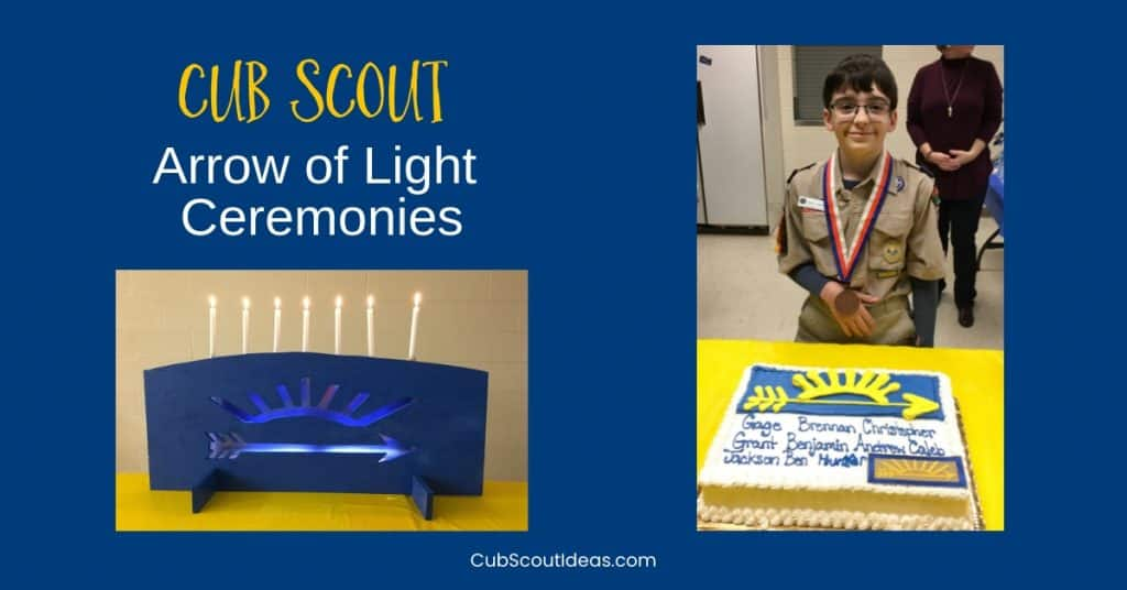 Cub Scout Arrow of Light Ceremony