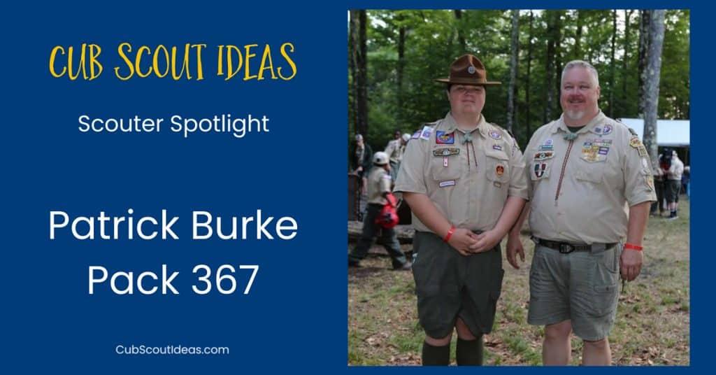 Gagasan Cub Scout Scouter Sorotan Patrick Burke