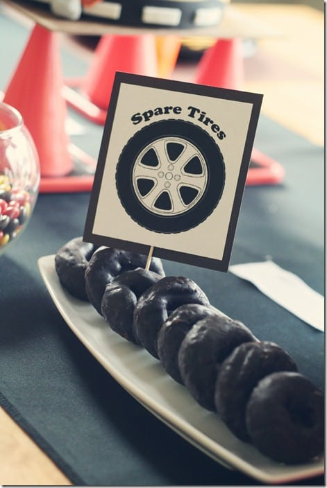 pinewood derby spare tires donuts