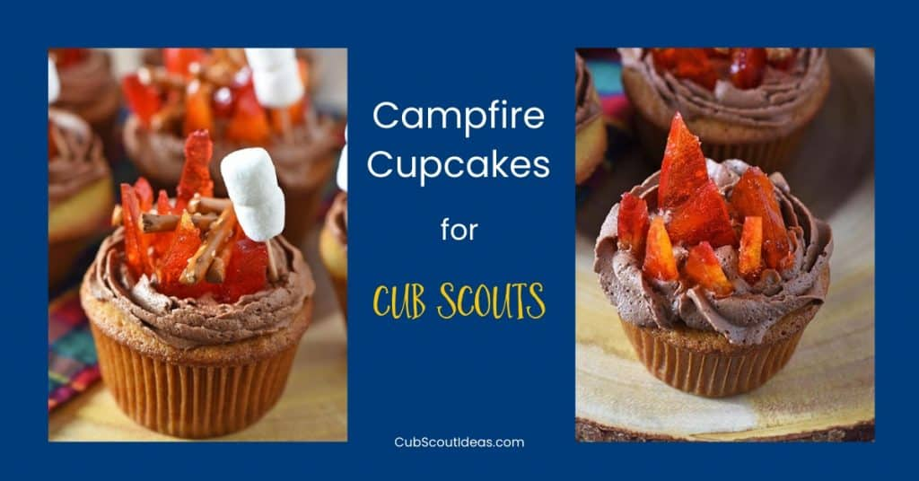 campfire cupcakes for cub scouts