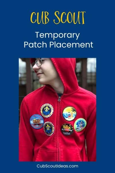 cub scout tempoary patches