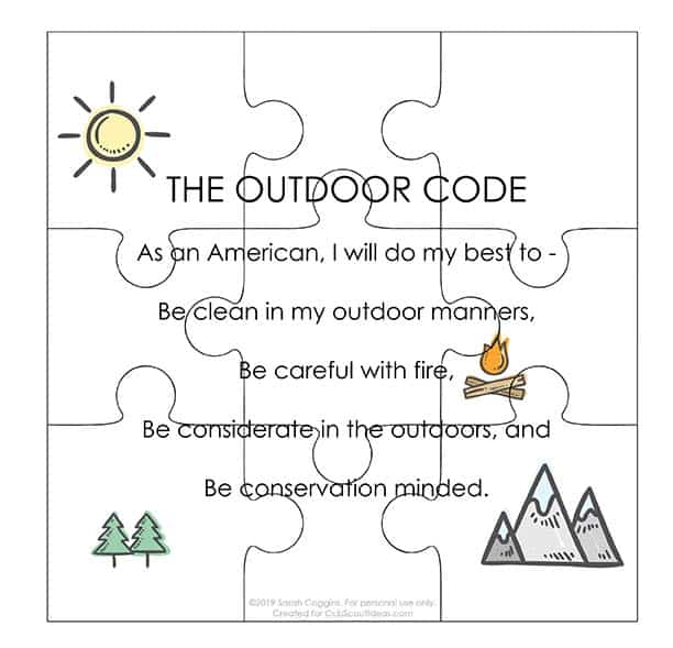 Canny image regarding cub scout outdoor code printable