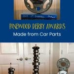 Pinewood Derby Awards Made from Car Parts