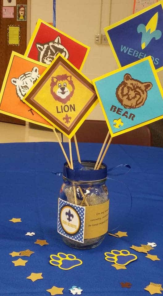 centerpiece with cub scout rank images