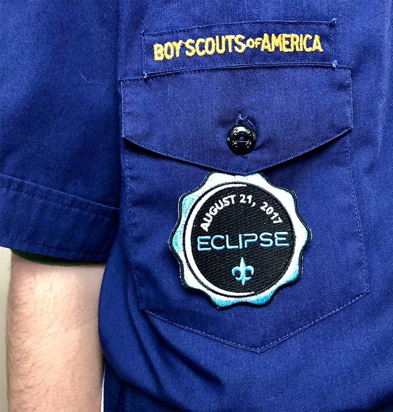 cub scout eclipse temporary patch