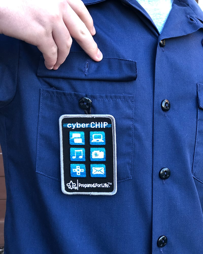 Cub Scout Cyber Chip Patch Placement