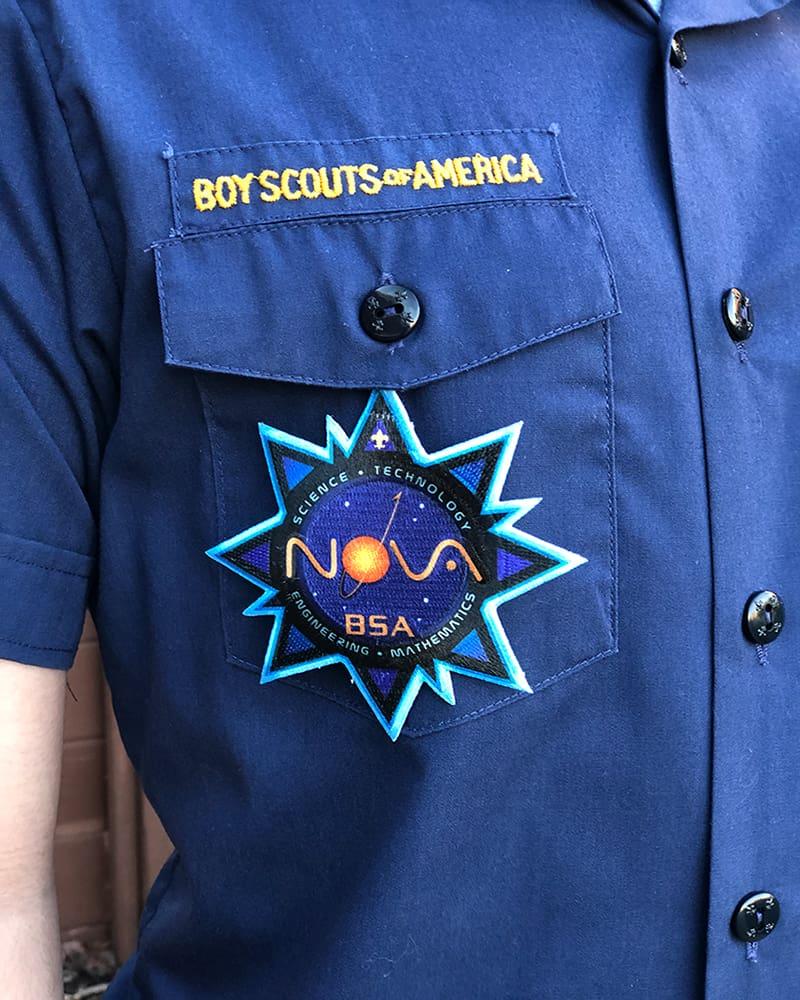 Cub Scout Nova Patch Placement