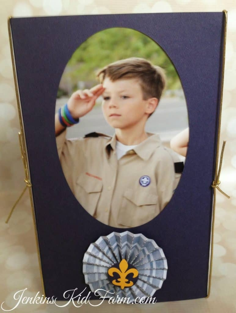 blue and gold photo centerpiece jenkins kid farm