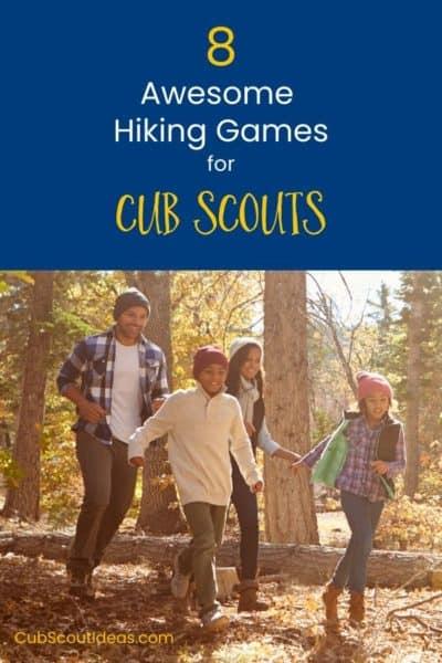 8 Cub Scout hiking games