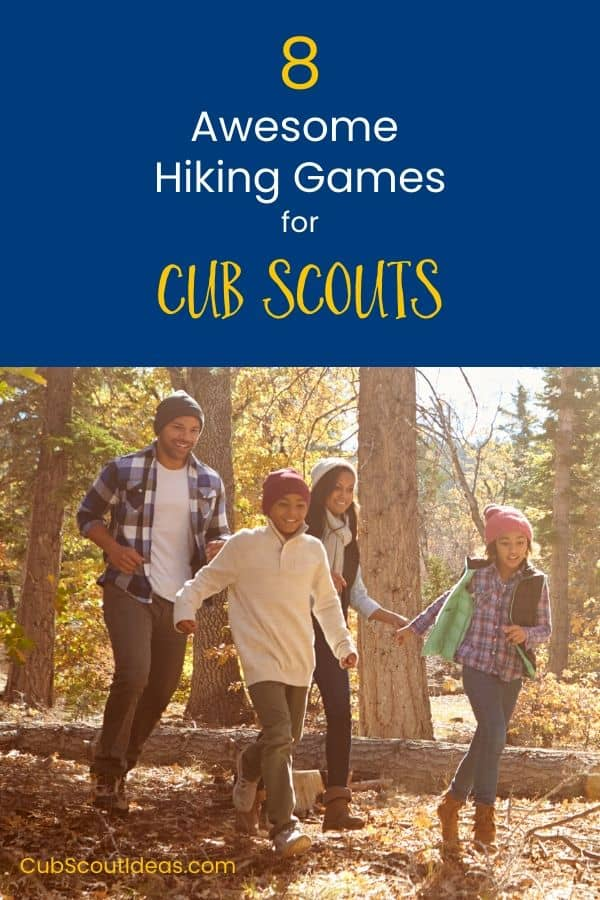 8 Cub Scout hiking games