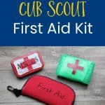 Cub Scout first aid kit