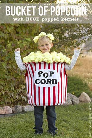 diy bucket of popcorn costume
