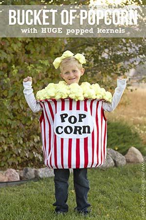 diy bucket of popcorn costume