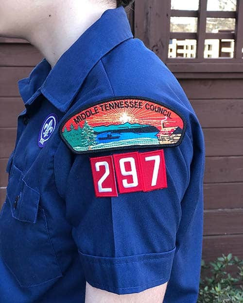 Cub Scout Council Patch Placement