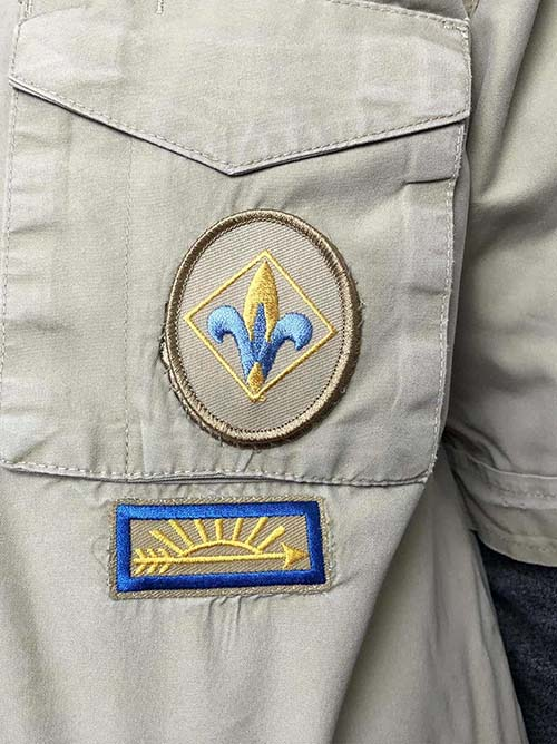 webelos patch placement
