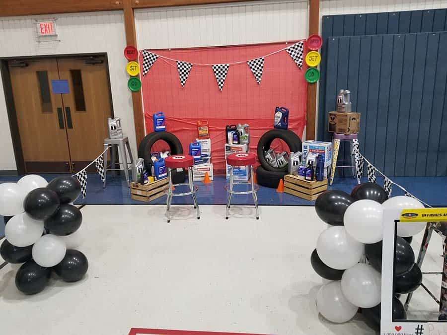 display from pinewood derby
