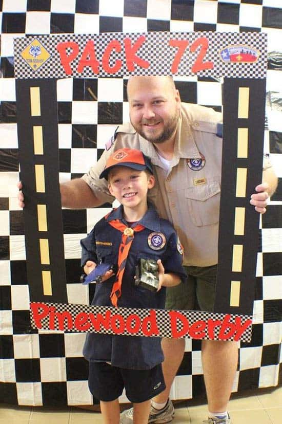pinewood derby photo frame