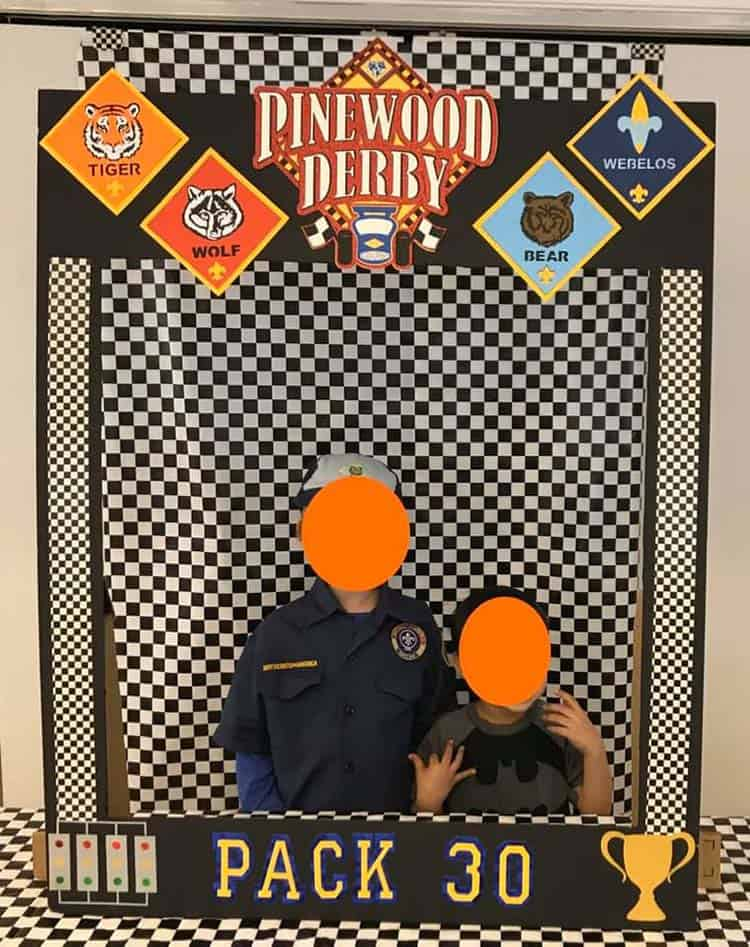 Cub Scout race photo frame