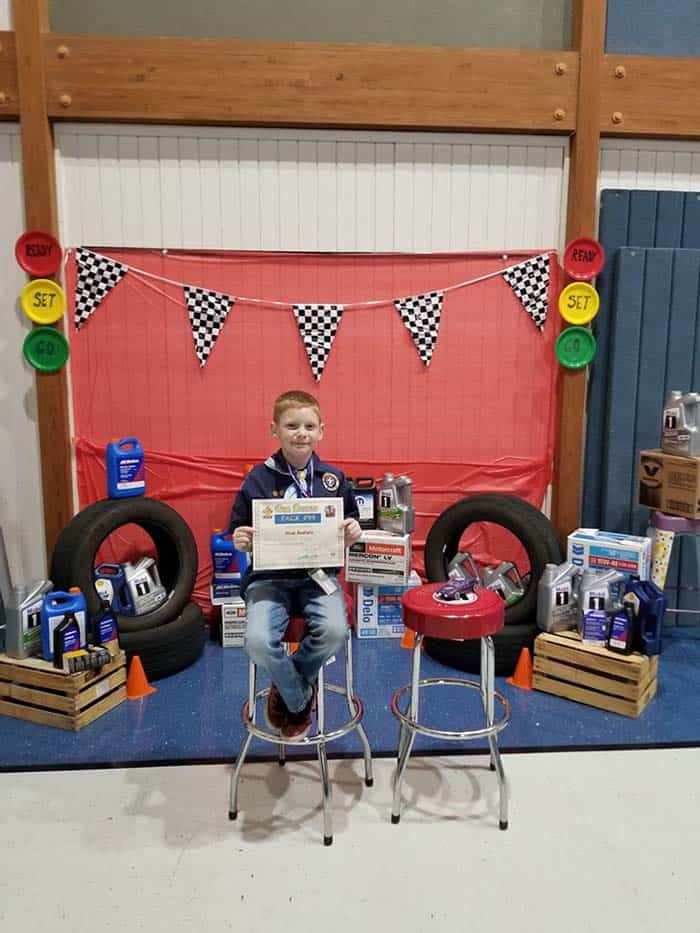 Pinewood Derby display