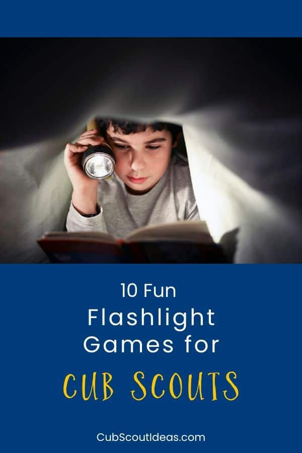 cub scout flashlight games