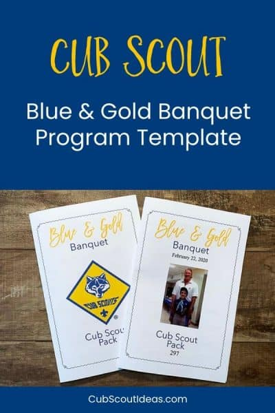 Cub Scout blue and gold banquet agenda template