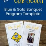 free program template for blue and gold banquet