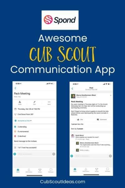 spond communication app for cub scouts