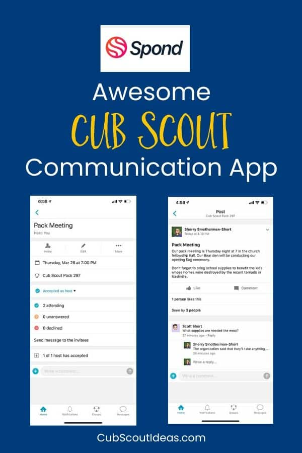 spond communication app for cub scouts
