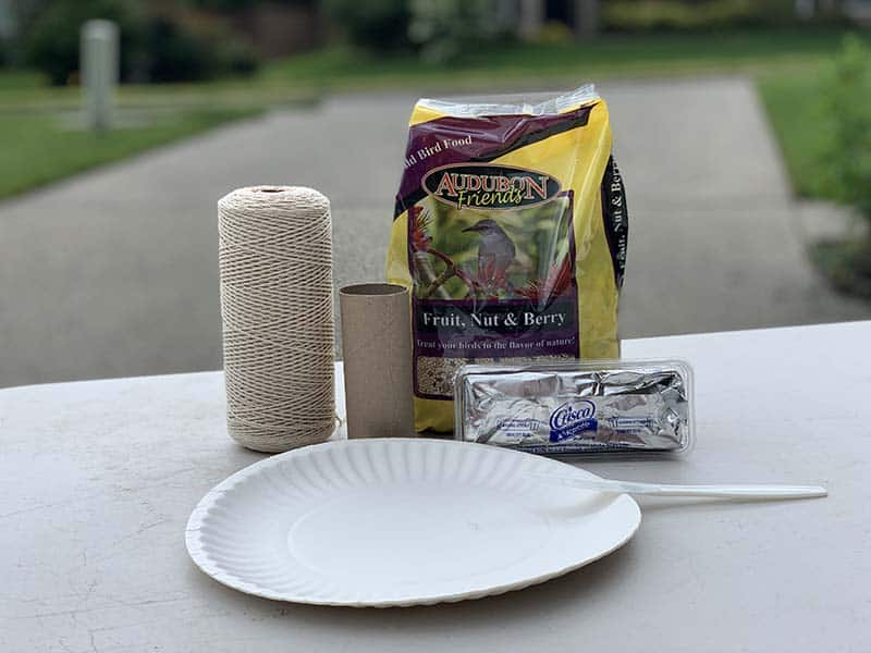 supplies for toilet paper roll bird feeder
