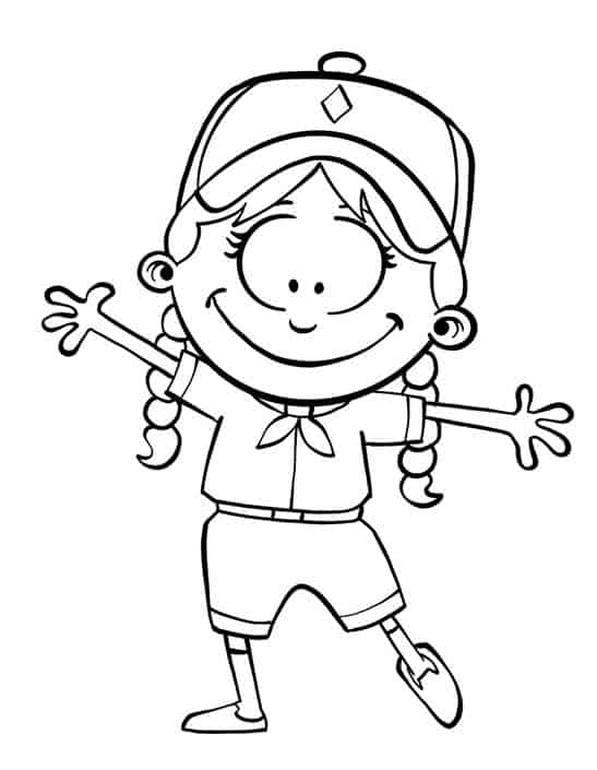 Flat Dybbie Coloring Page