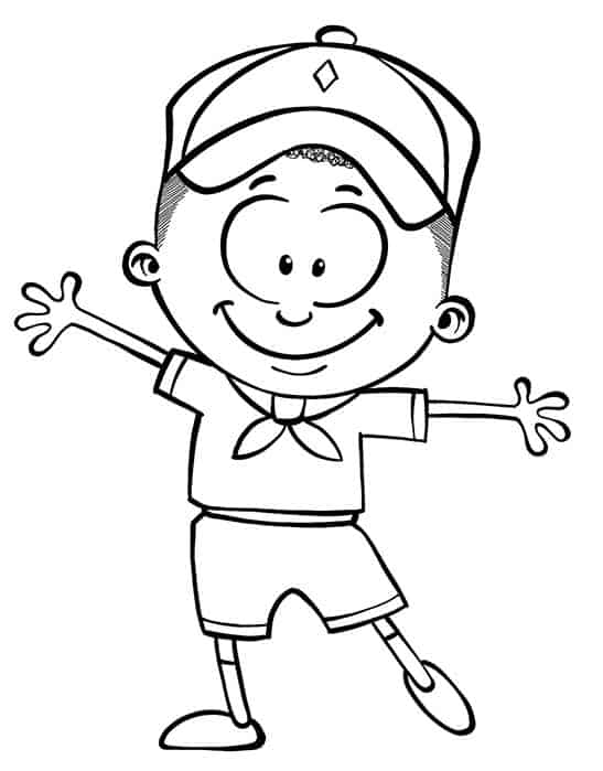 Flat Scoutie Coloring Page