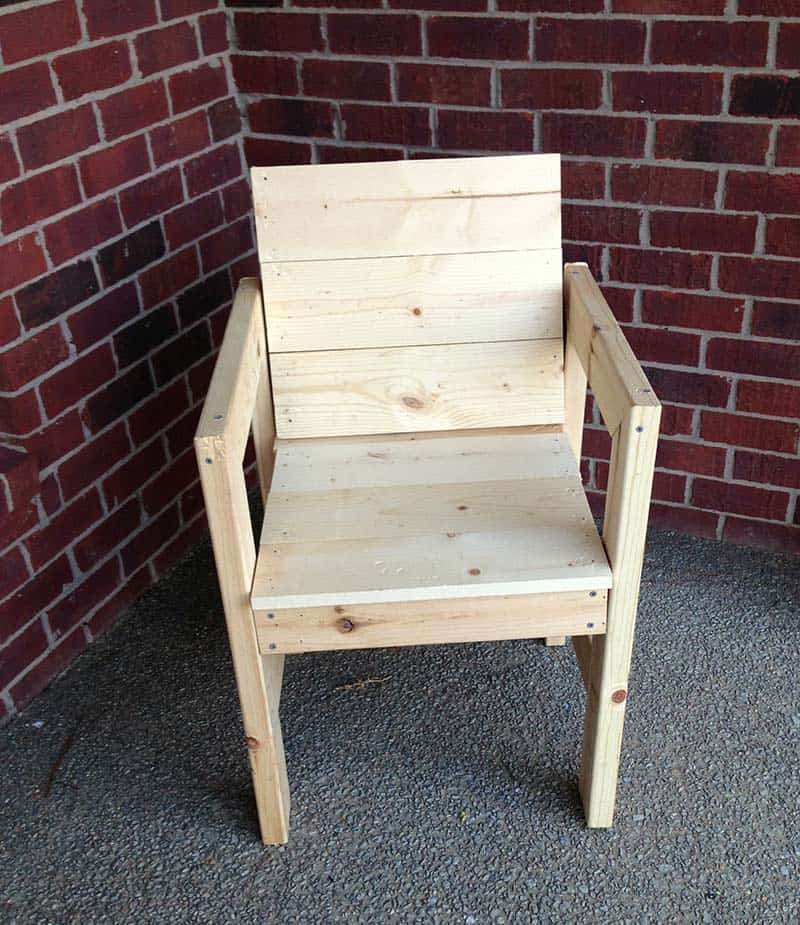 wooden chair project