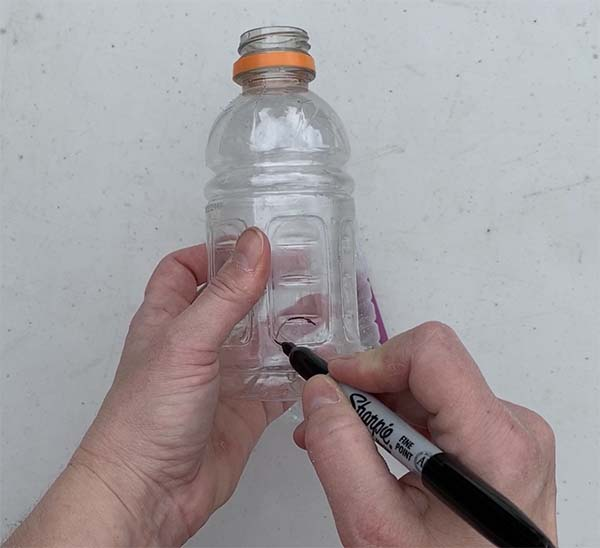 draw circle on bottle