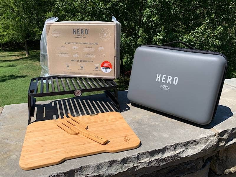 items in hero grill box