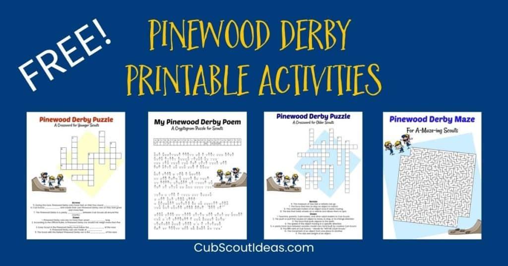 Aktivitas Pinewood Derby Gratis yang Dapat Dicetak