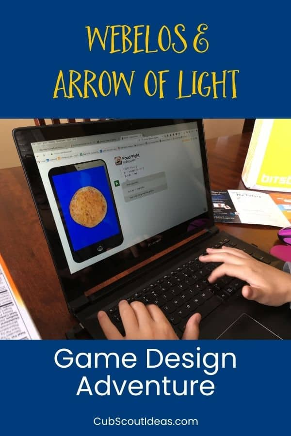 Game Design Adventure Webelos Arrow of Light
