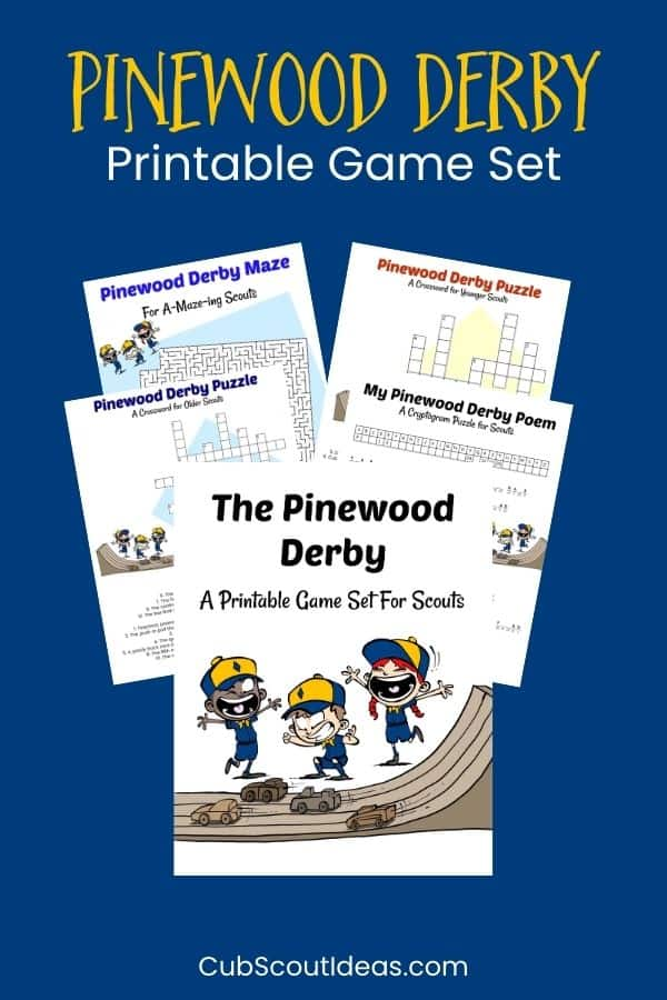 Pinewood Derby Printable Activities