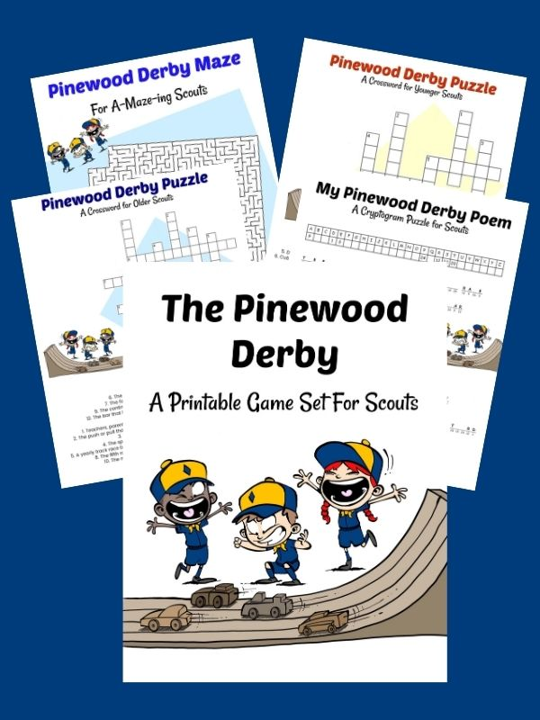 Printable Activities for your Pinewood Derby