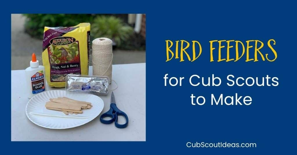 bird feeders for cub scouts to make