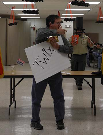 campaiging for twix candy bar mock election