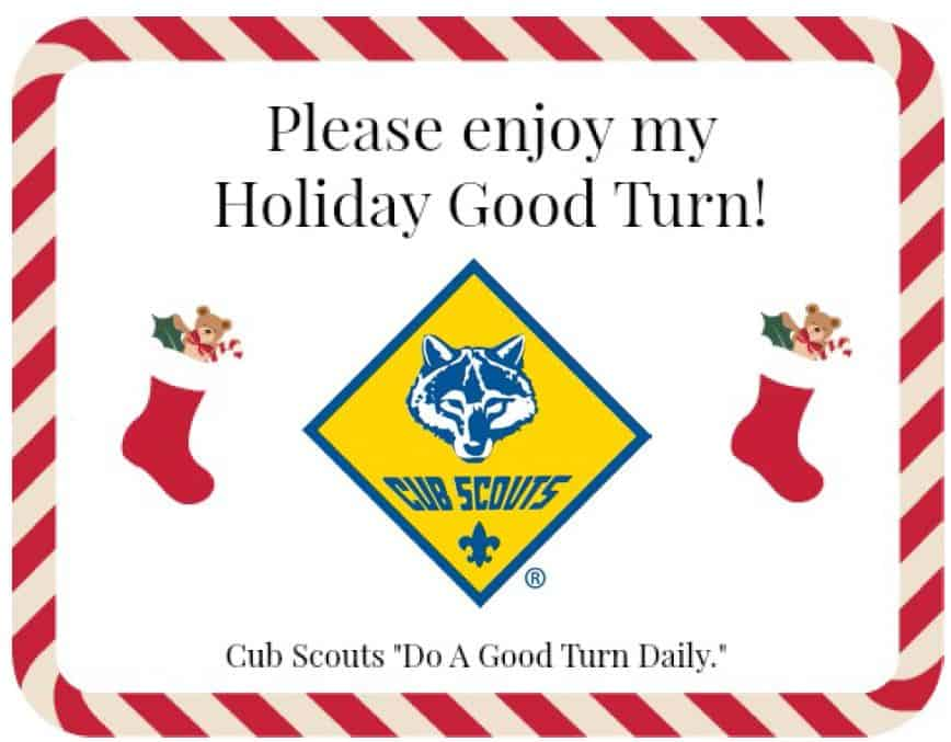 cub scout holiday good turn for service