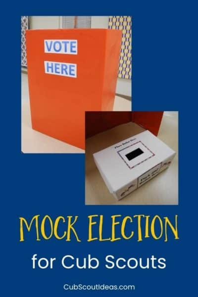 mock election voting booth