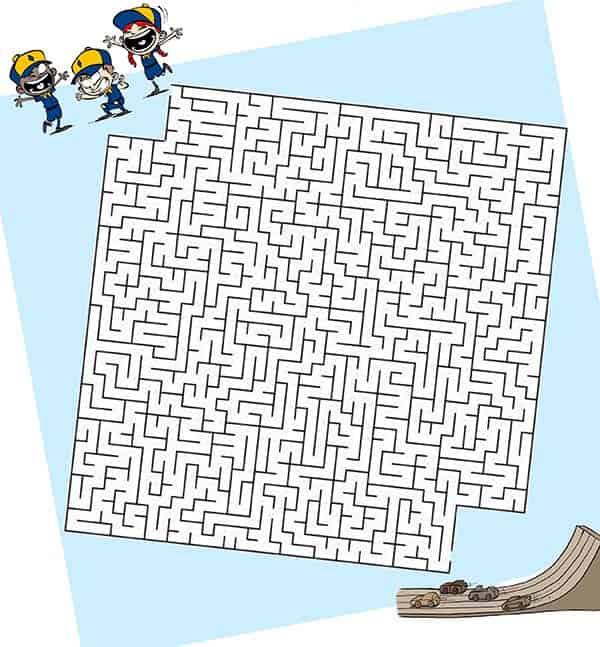 pinewood derby maze dapat dicetak