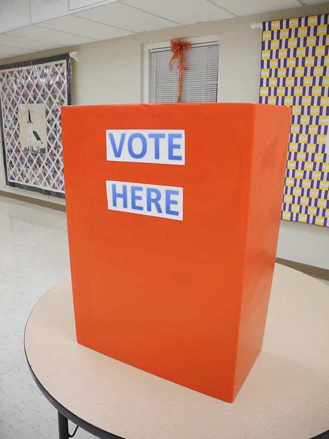 polling place for mock election activity