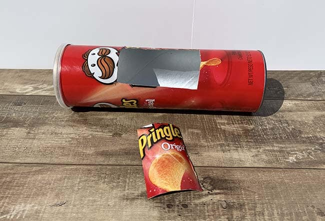 pringles can for solar hot dog cooker